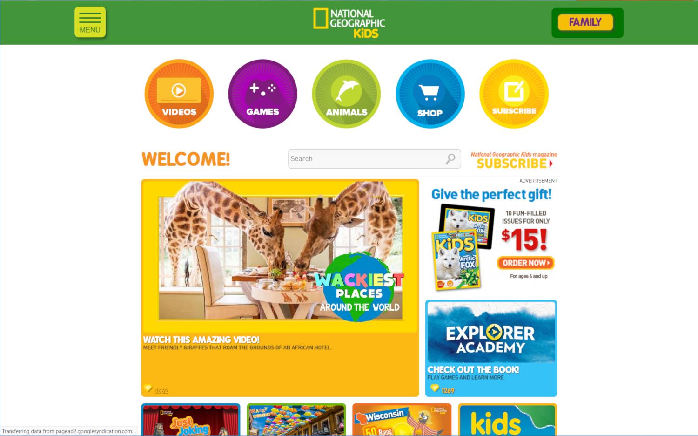 国家地理儿童最佳儿童在线教育计划