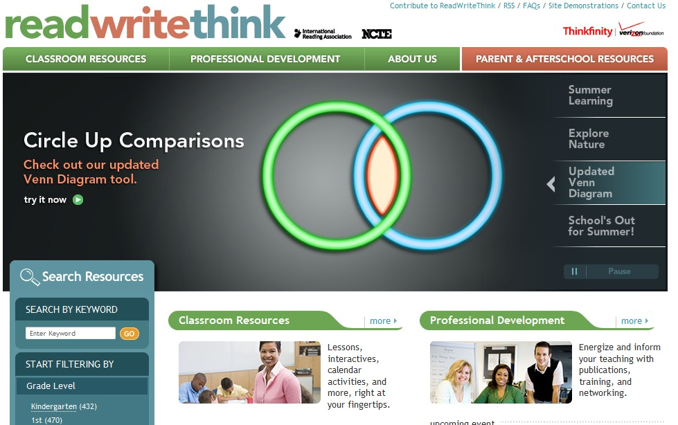 ReadWriteThink 最佳儿童在线教育计划