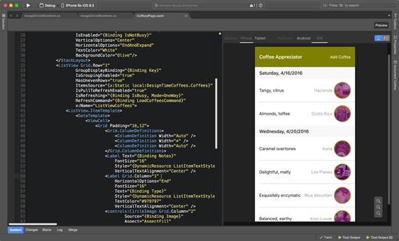 使用C#代码通过Xamarin.Forms编写一套代码,构建原生UI支持IOS ,Android和Windows 2
