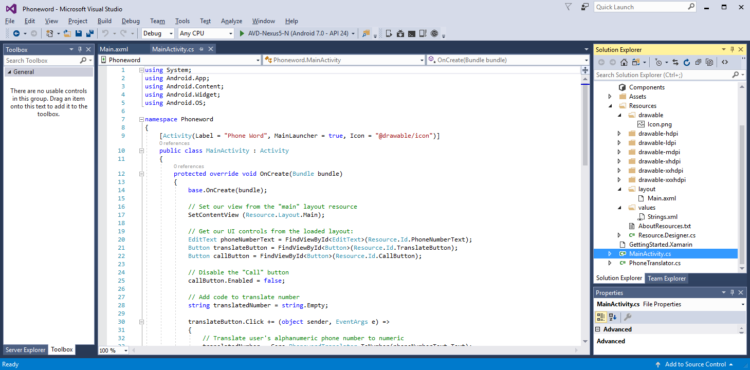 Xamarin.Android开发入门——Hello,Android Multiscreen快速上手 2