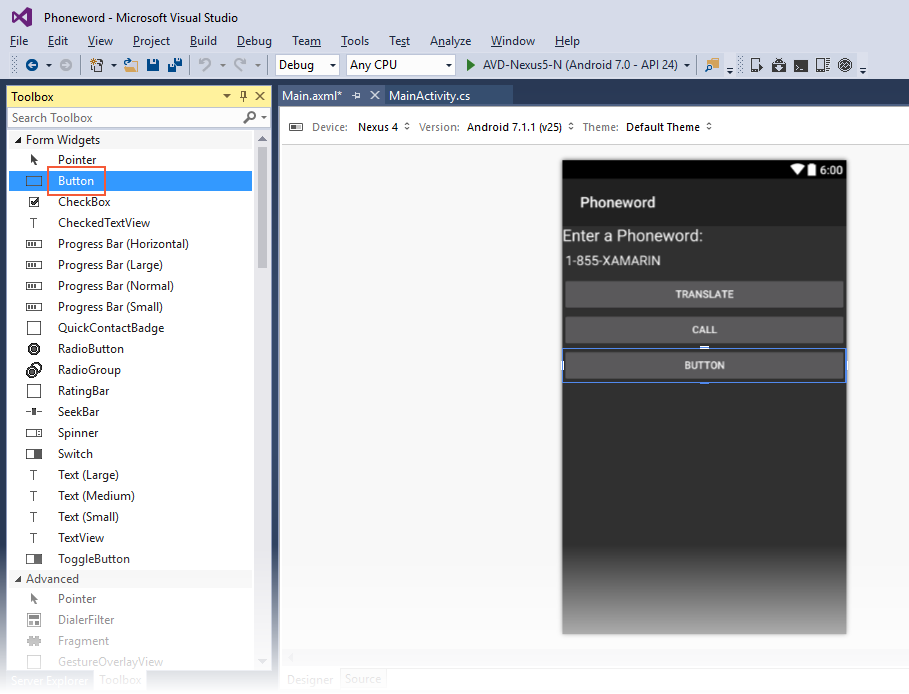 Xamarin.Android开发入门——Hello,Android Multiscreen快速上手 4