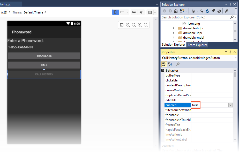 Xamarin.Android开发入门——Hello,Android Multiscreen快速上手 9