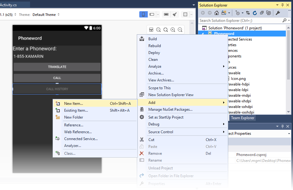 Xamarin.Android开发入门——Hello,Android Multiscreen快速上手 10