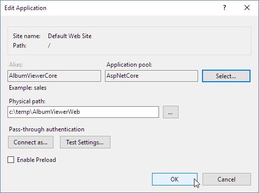 如何使用IIS运行ASP.NET Core程序