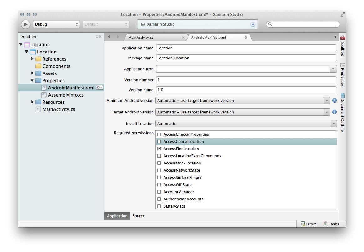 Xamarin.Android平台功能——位置服务 1
