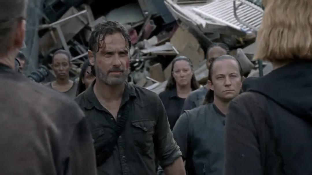 行尸走肉第八季第6集剧情之瑞克谈判失败被擒,玛姬收容救世军俘虏 1