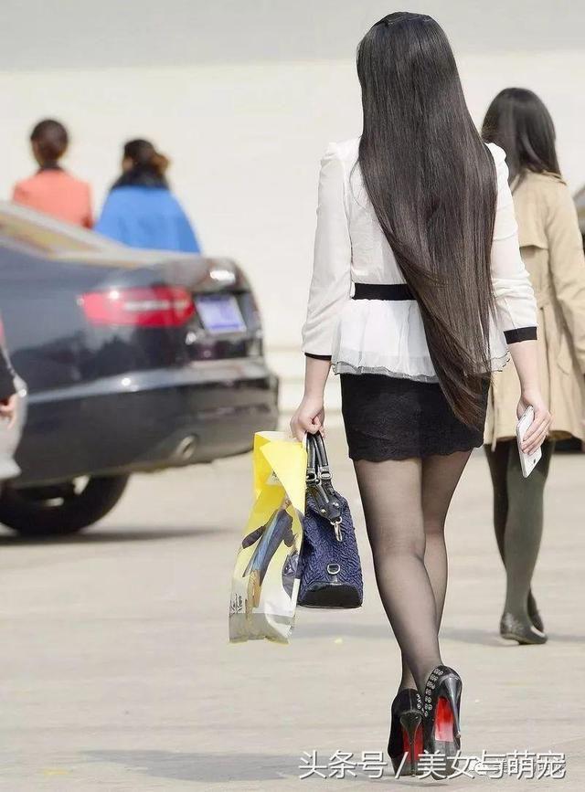 街拍包臀裙丝袜美女你也可以这么美 7