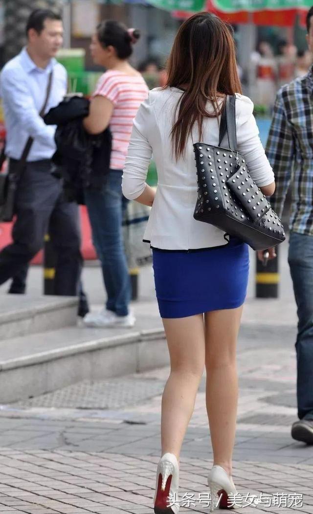 街拍包臀裙丝袜美女你也可以这么美 4