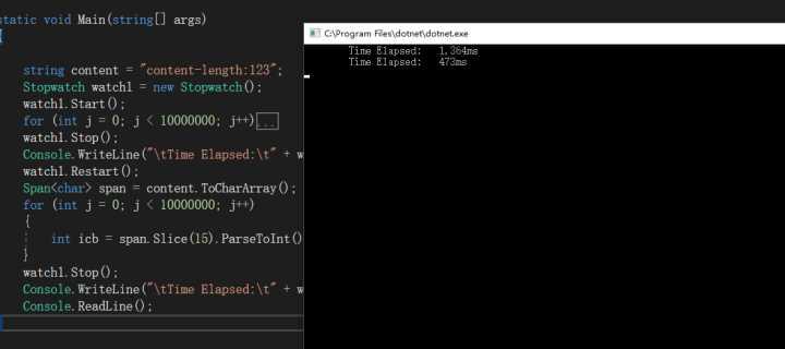 .Net Core 使用Span<T>提升性能直逼C++性能 5