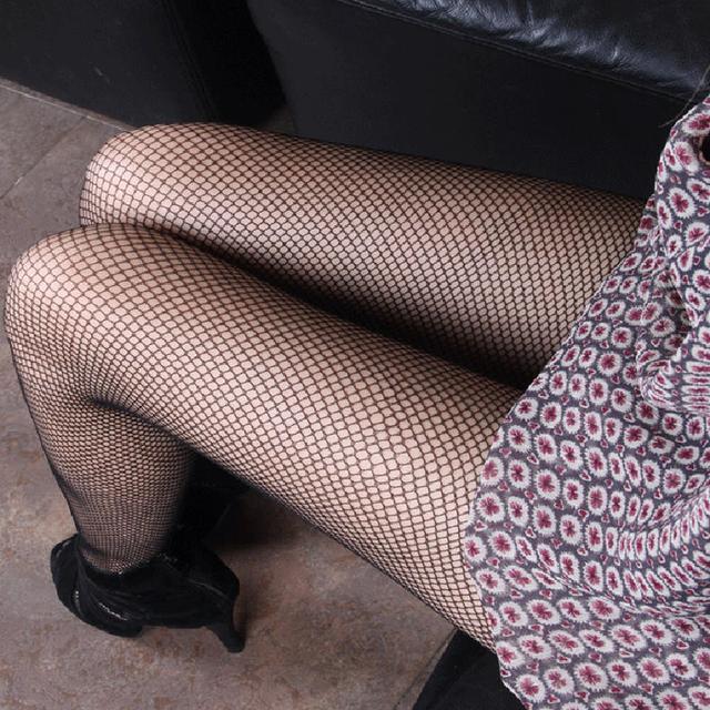 渔网袜性感妹子可以这么穿!仅售26块哟有人恨有人爱 6