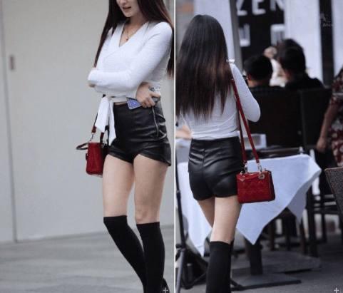 别再穿丝袜打底裤了!今年流行皮裤+毛衣 美爆了 20