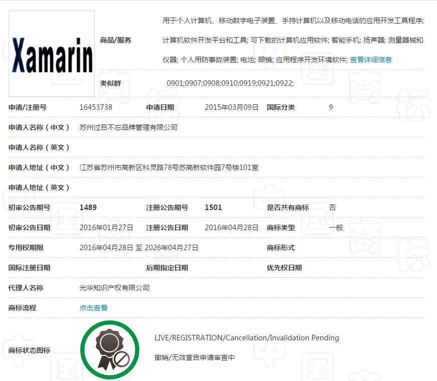 微软Xamarin商标被抢注 还被拿做勒索工具 2