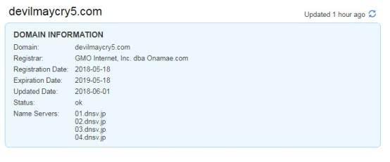 鬼泣5》将在E3发布?网站域名遭注册应该是官方所为 1