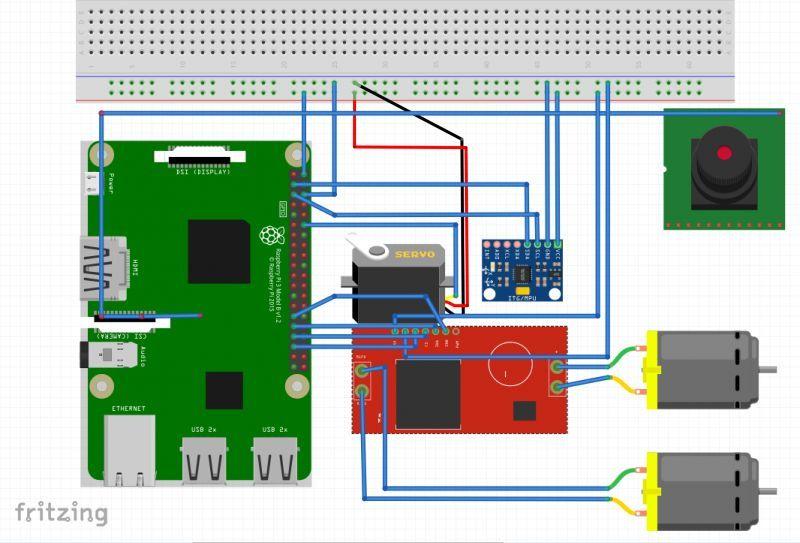 树莓派+nodejs打造物联网图传控制履带车 3