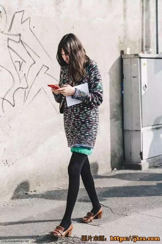冬天穿丝袜的妹子