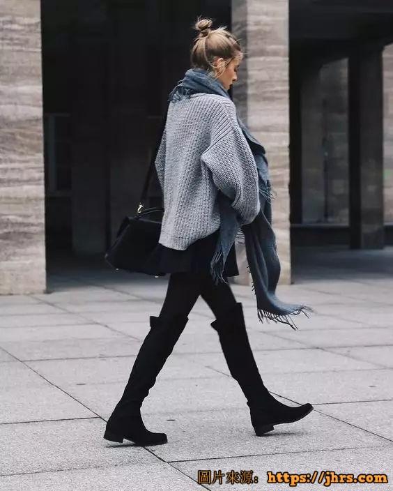冬天穿丝袜的性感妹子