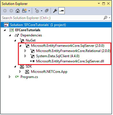 Entity Framework Core安装教程 5