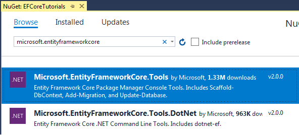 Entity Framework Core安装教程 6