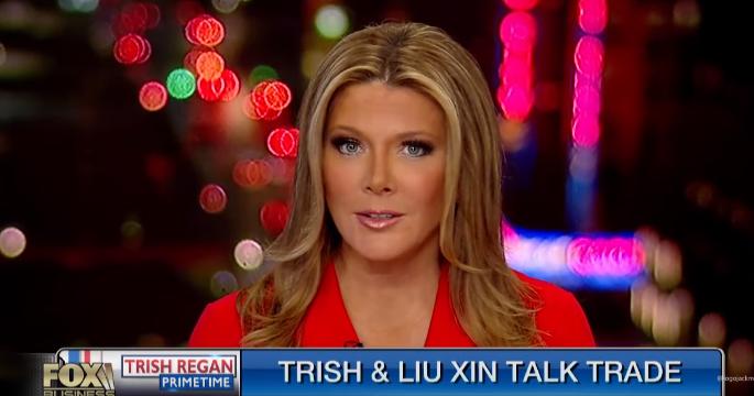 福克斯与CGTN:Trish Regan和刘欣之间的贸易战争辩论