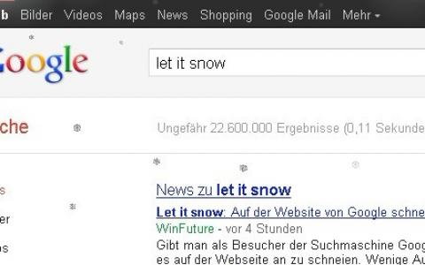 8年前的google,可以搜索let it snow,让人真是怀念