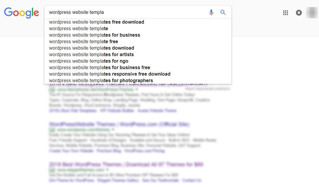 谷歌自动建议变化