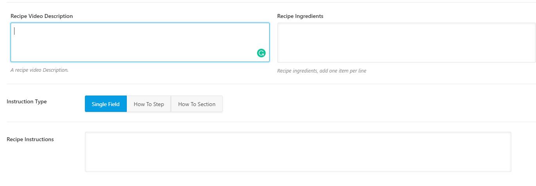 使用Rank Math 可以设定食谱详细信息