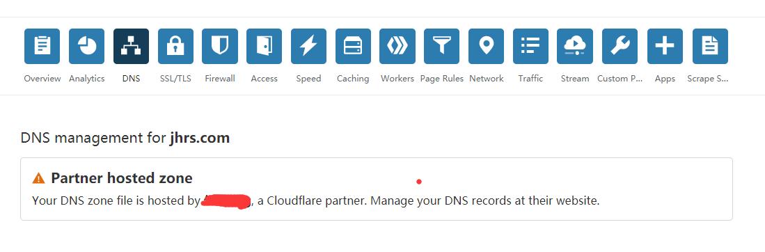 DNS被 partner 接管了