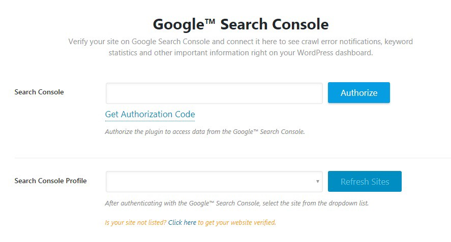 Rank Math 配置 Google Search Console