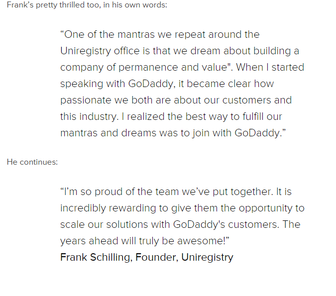 2020年Godaddy收购uniregistry.com 3