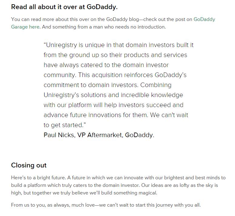2020年Godaddy收购uniregistry.com 5