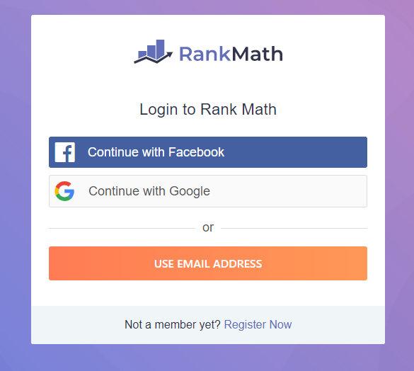 排名数学注册和登录页面