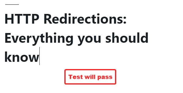 标题被重写以通过测试
