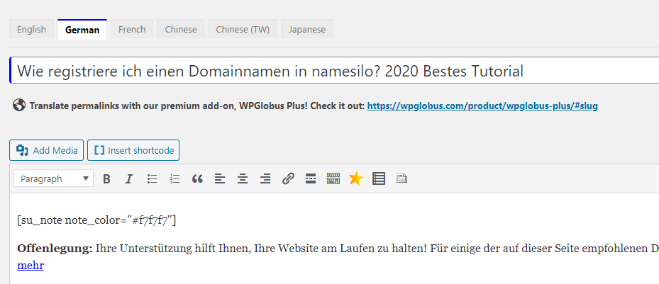 WordPress多语言网站安装WPGlobus插件来实现,5分钟教程 3