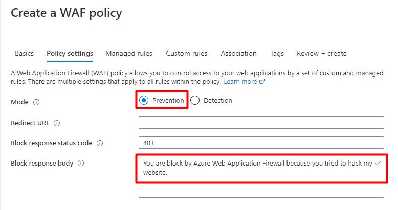 使用 Azure Web 应用防火墙拦截黑客攻击 3
