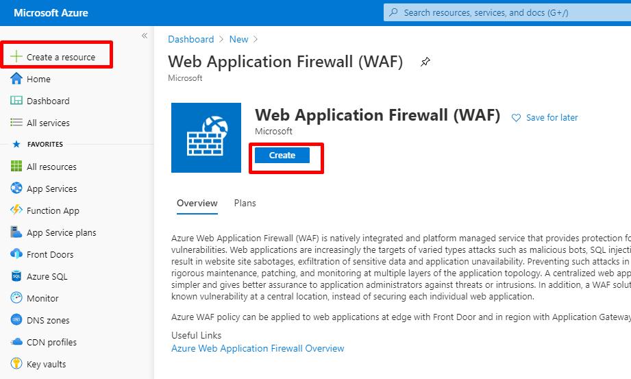 Azure Web 应用防火墙