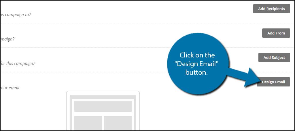 """单击""""设计电子邮件""""按钮。"""