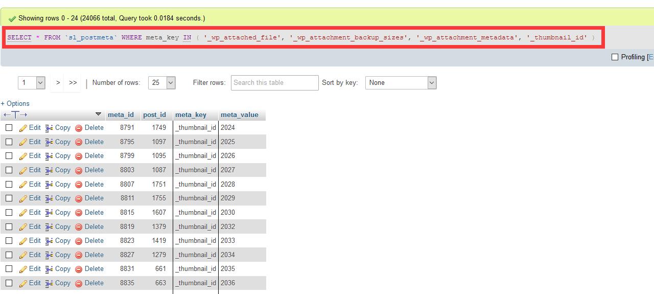 WordPress媒体数据保存在哪张表? 3