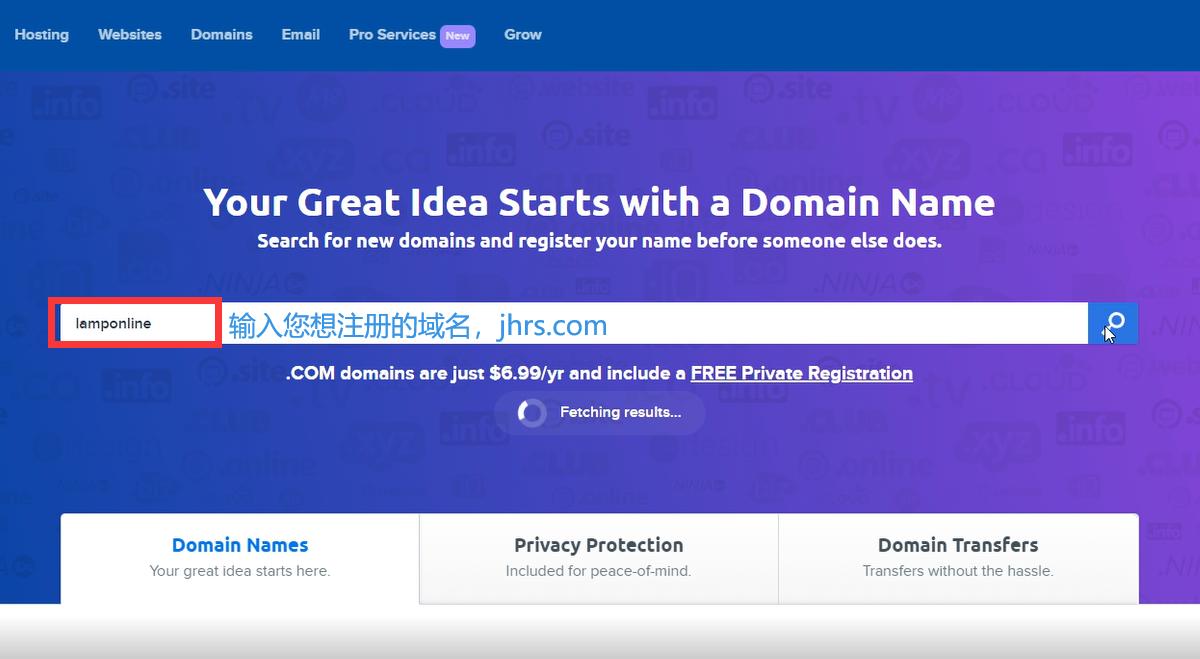 2021最新DreamHost域名注册教程 1