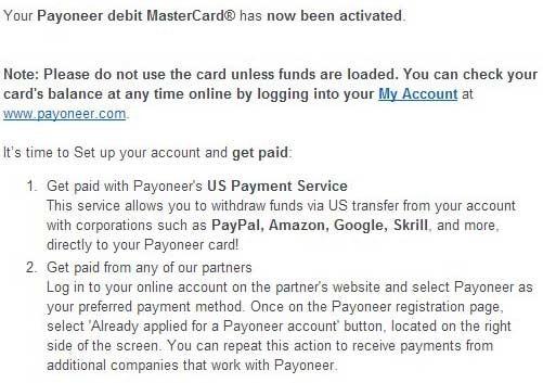 美国银行账户Payoneer卡,Amazon联盟收款必备 1