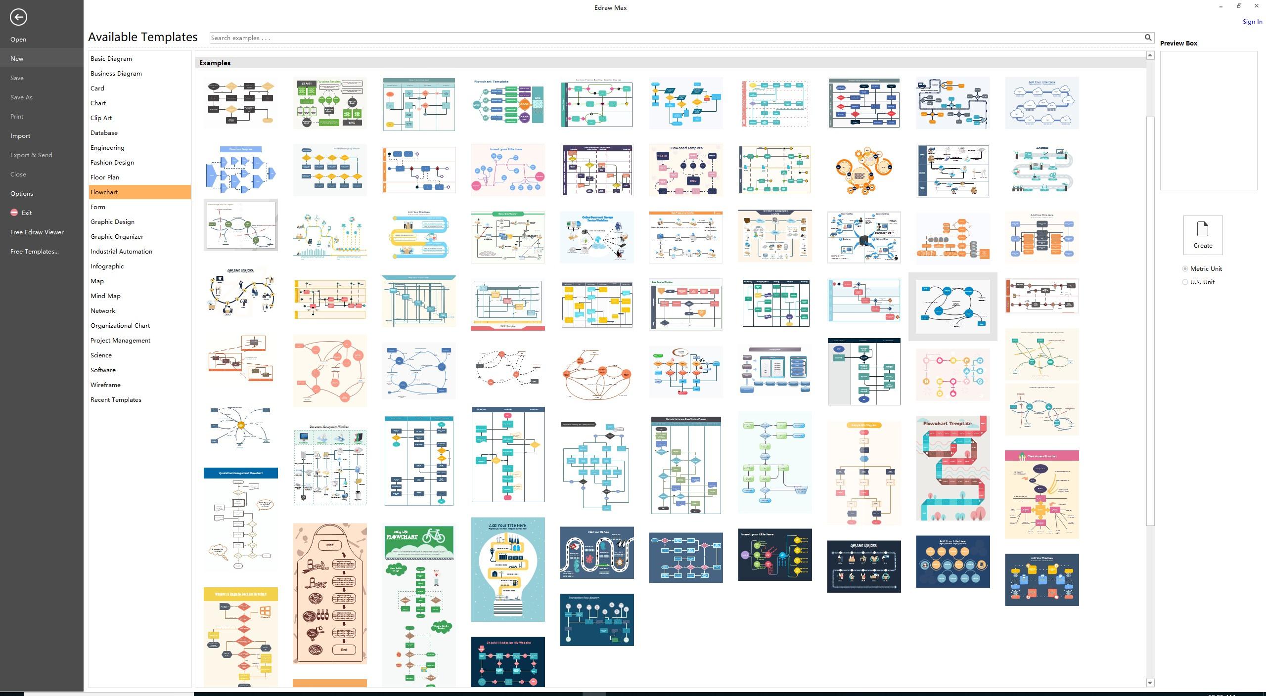 EdrawMax流程图模板