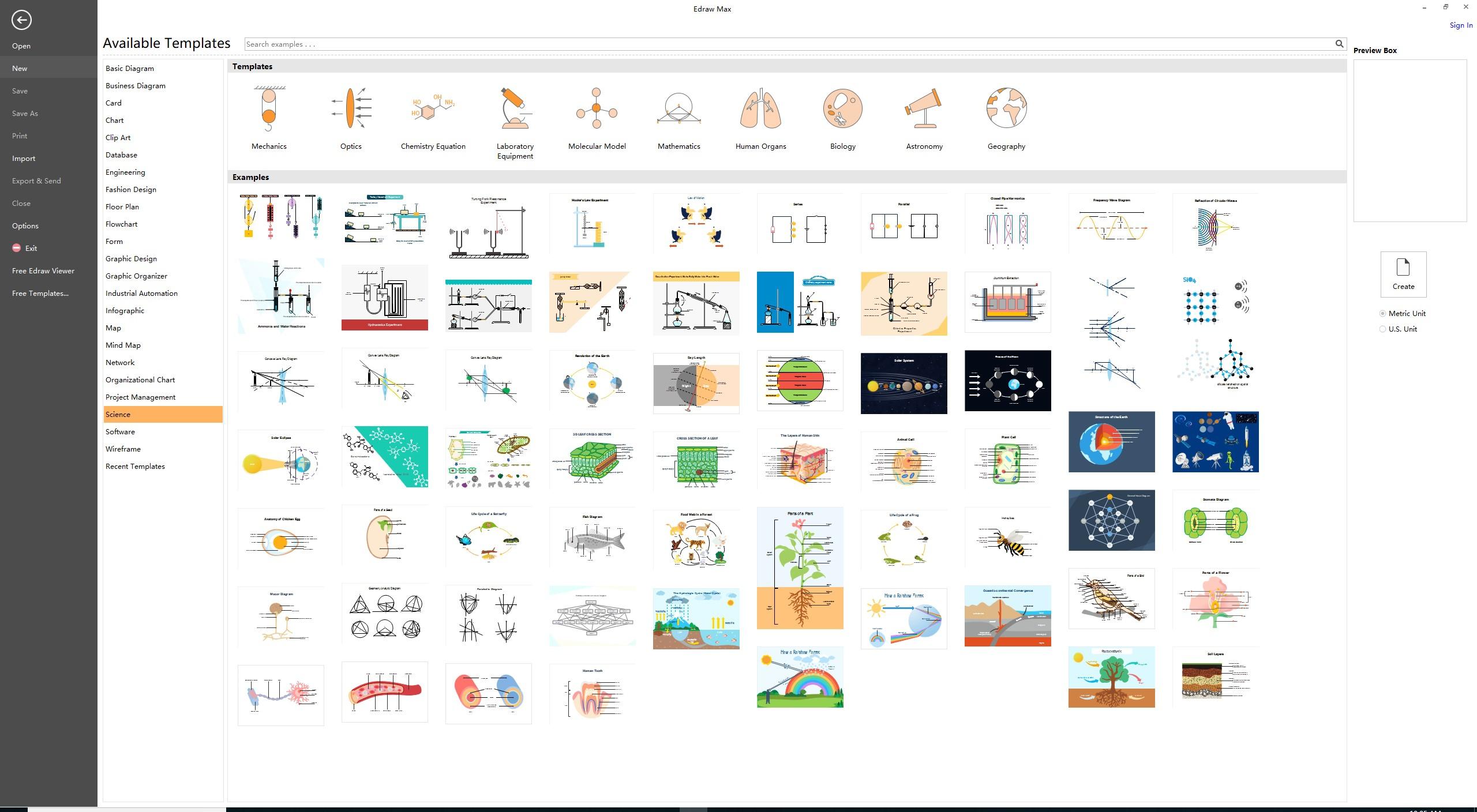 EdrawMax科学图模板
