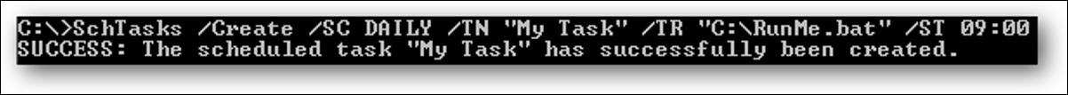 怎样用CMD命令行创建Windows计划任务修改和删除也一样
