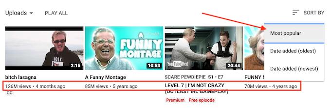 youtube 最受欢迎