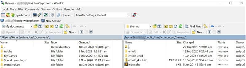 转到您的项目文件夹 wp-content 主题文件夹,然后解压缩或解压缩 Enfold zip