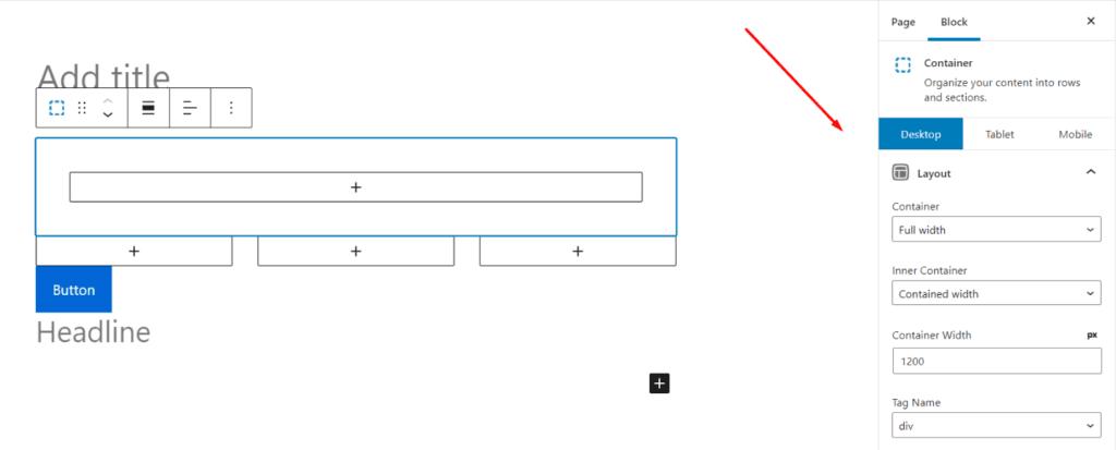 Generateblocks 定制桌面