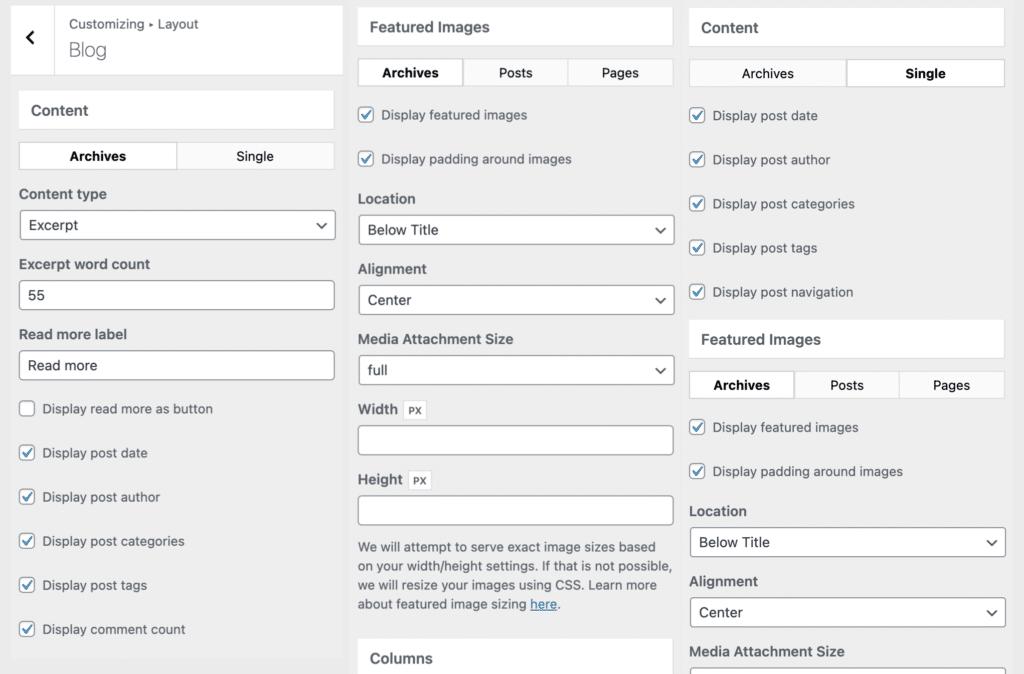 GeneratePress 博客选项