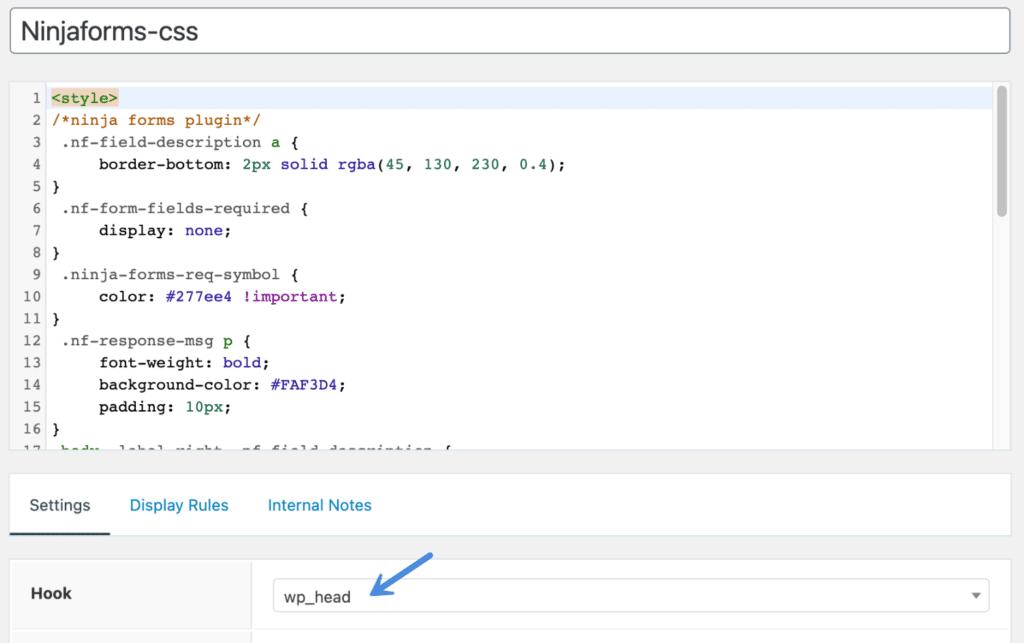 GeneratePress 钩子中的 CSS 样式