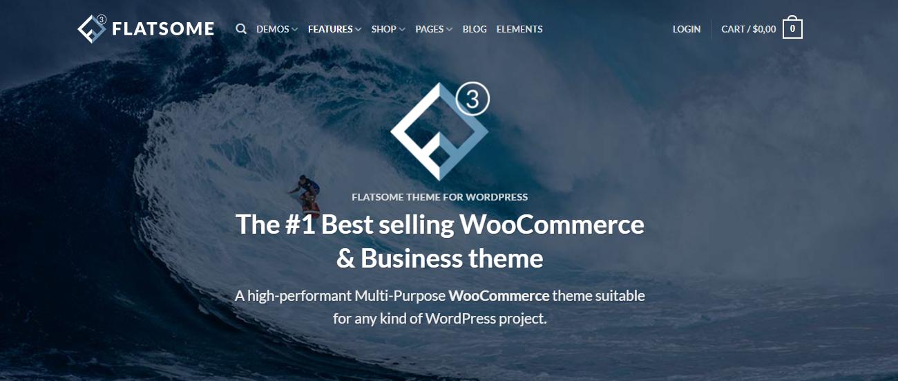 WordPress英文主题推荐 Flatsome:多用途响应式 WooCommerce 主题