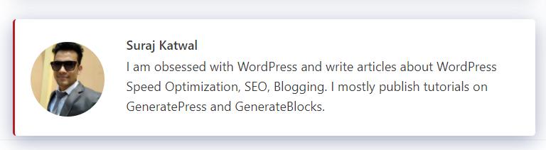 使用Generatepress主题钩子创建作者介绍框